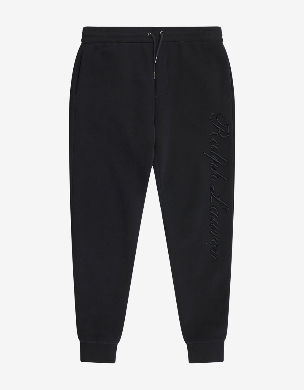 Navy Blue Logo Embroidery Sweat Pants -