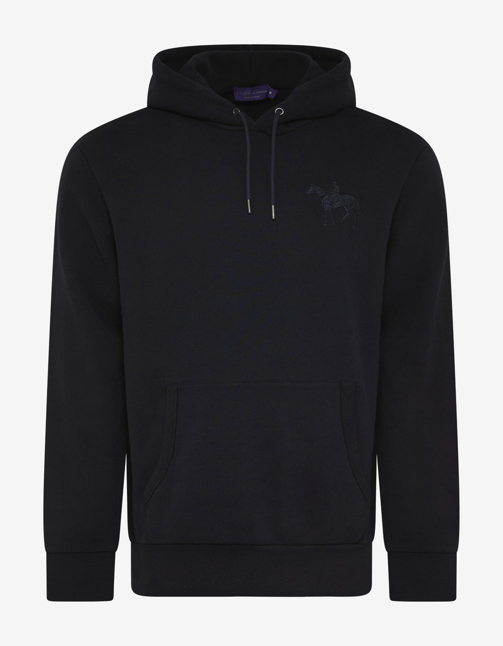Navy Blue Pony Embroidery Hoodie -