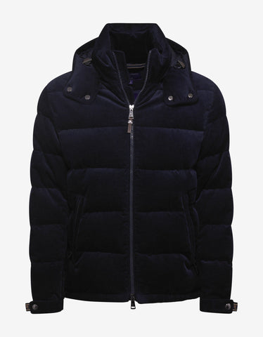 Ralph Lauren Purple Label Navy Blue RLX Corduroy Down Jacket