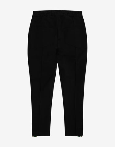 Rhude Black Cropped Traxedo Pants with Trim