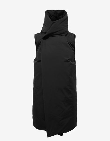Rick Owens Black Sleeveless Liner Coat