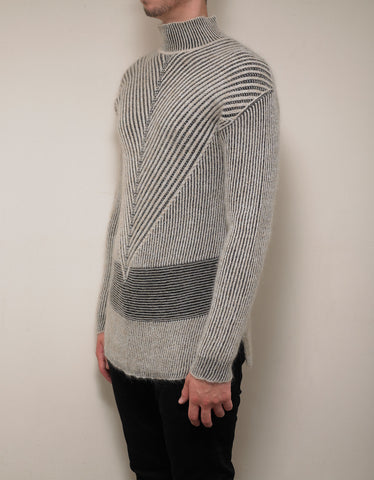 Rick Owens Beige Fisherman Turtleneck Sweater