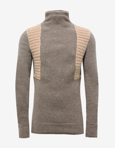 Rick Owens DNA Dust Wool Blend Funnel Neck Sweater