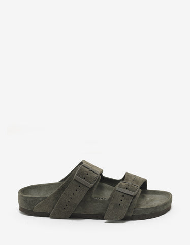 Rick Owens Birkenstock Arizona Dust Grey Suede Sandals