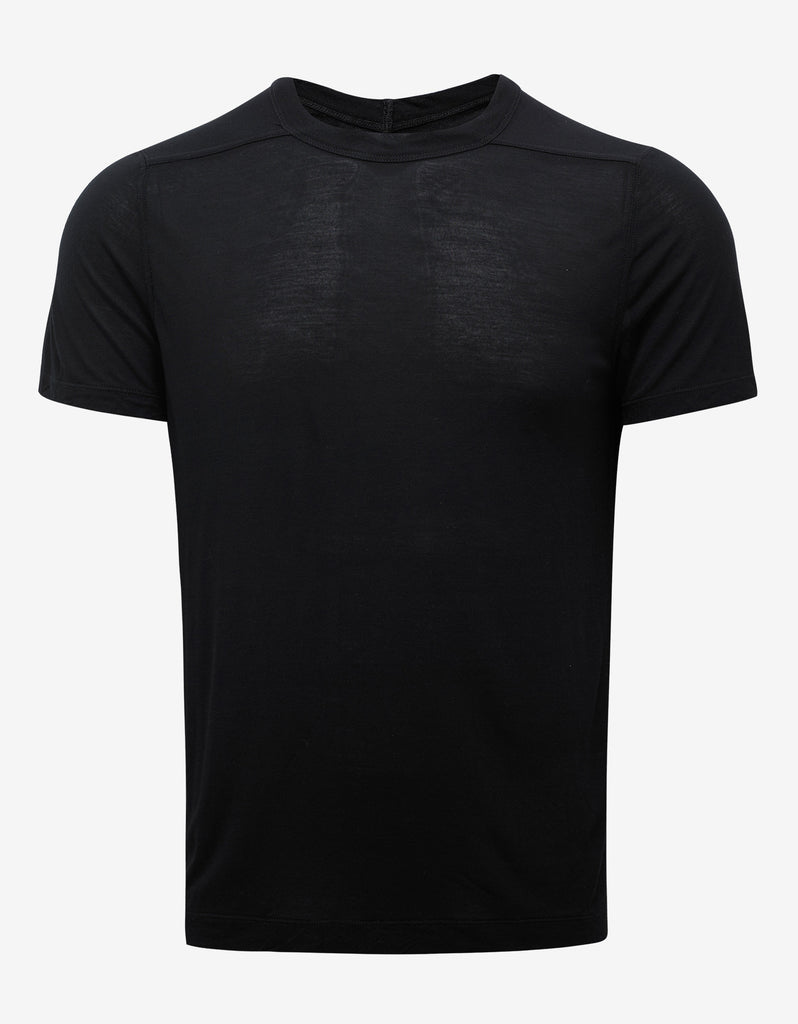 Black Silk Blend T-Shirt