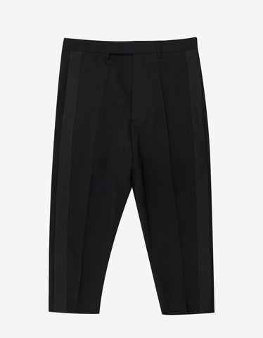 Rick Owens Black Tux Cropped Astaires Trousers