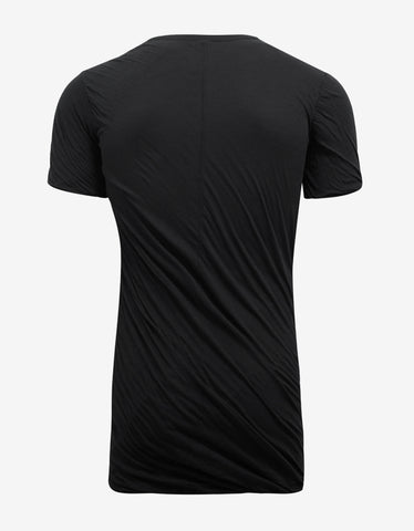 Rick Owens Black Double Short Sleeve T-Shirt