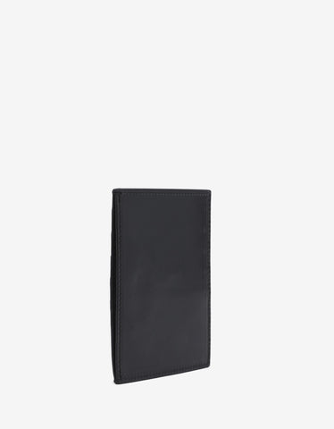Rick Owens Black Leather Card Holder
