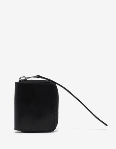 Rick Owens Black Leather Zipped Card Holder