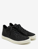 Mastodon Black Textured Leather Trainers