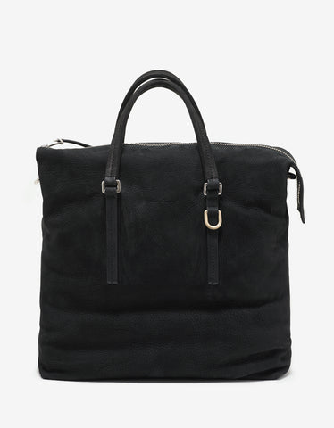 Rick Owens Black Nubuck Leather Shoulder Bag