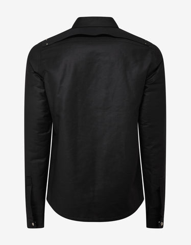 Rick Owens Black Quilted Outershirt
