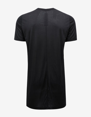 Rick Owens Black Silk T-Shirt