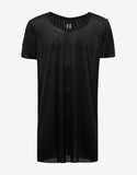 Black Raw Edge Silk T-Shirt