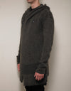 Brown Fisherman Hooded Cardigan