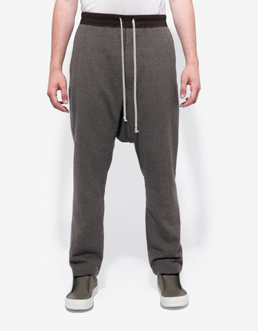 Rick Owens DNA Dust Grey Drop Crotch Wool Trousers