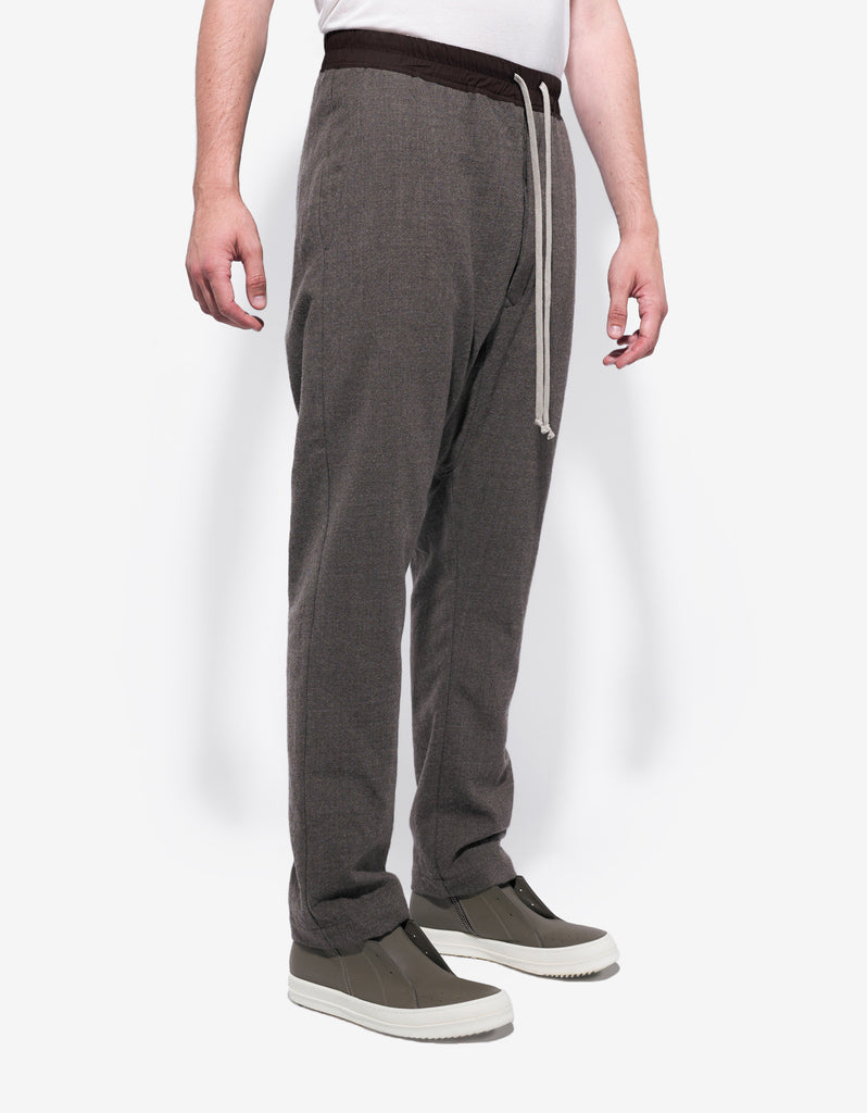 DNA Dust Grey Drop Crotch Wool Trousers