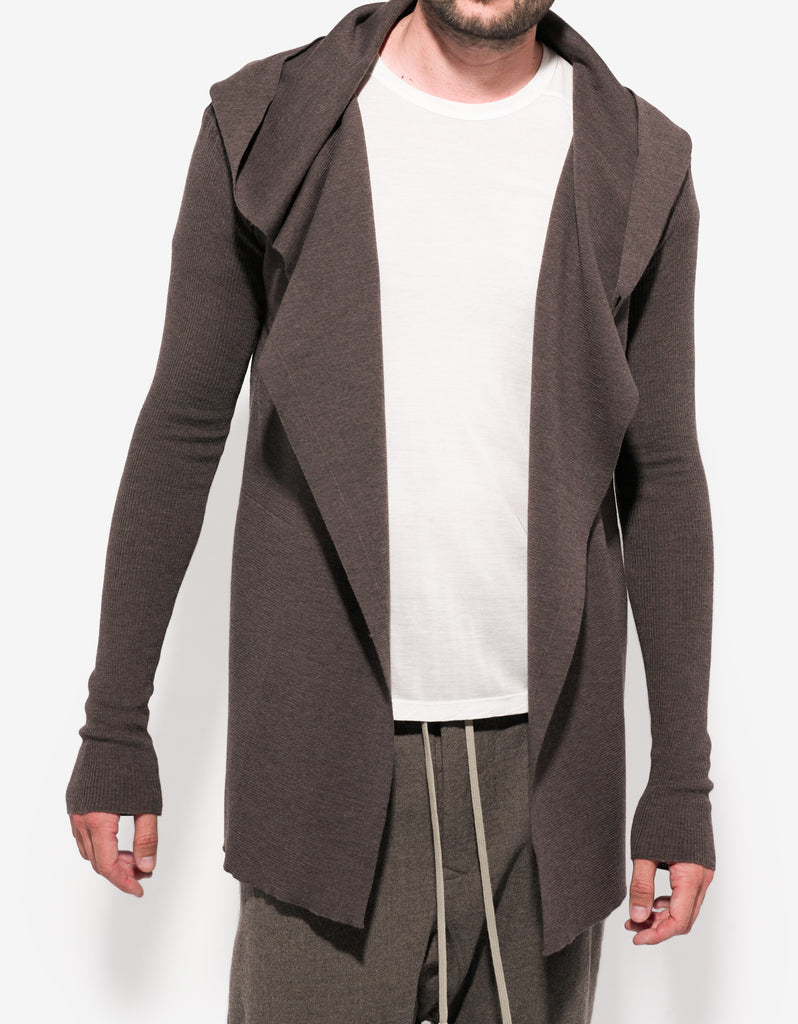 DNA Dust Grey Hooded Cardigan