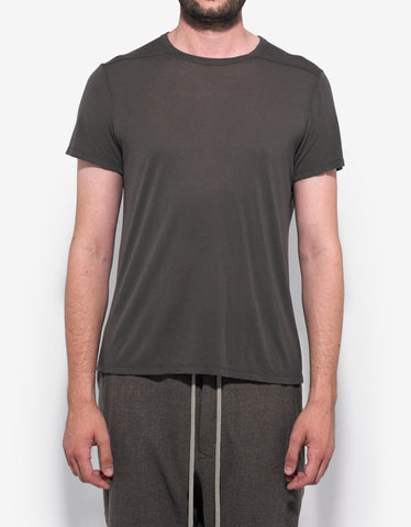 Rick Owens Dark Dust Grey Cropped Hem T-Shirt