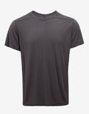 Dark Dust Grey Cropped Hem T-Shirt