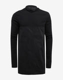 Black Emotionless Panelled Sweatshirt