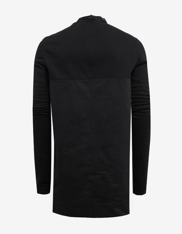 Rick Owens Black Emotionless Panelled Sweatshirt