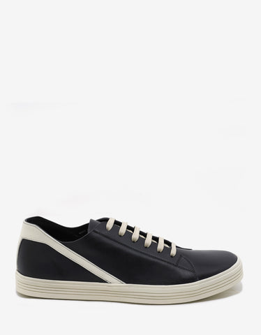 Rick Owens Geothrasher Black & Milk Trainers