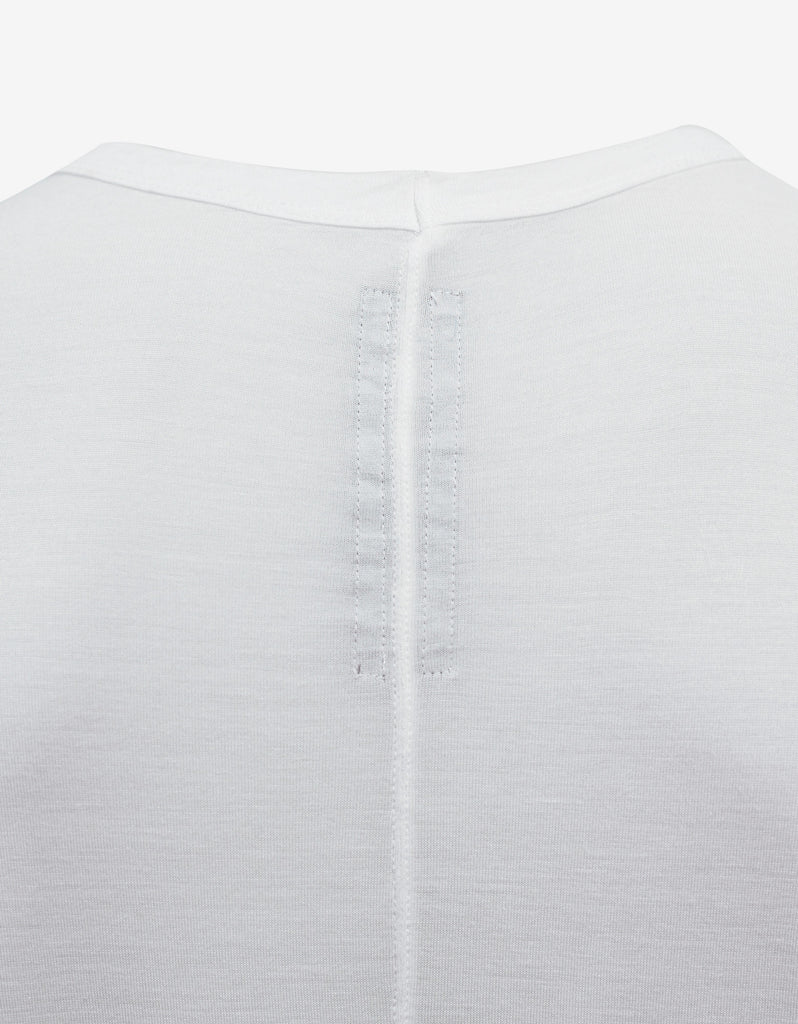 Milk White Cropped Hem T-Shirt