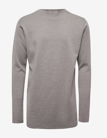 Rick Owens Pearl Grey Oversized Sweater
