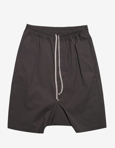 Rick Owens Rick's Pods Darkdust Grey Drop Crotch Shorts