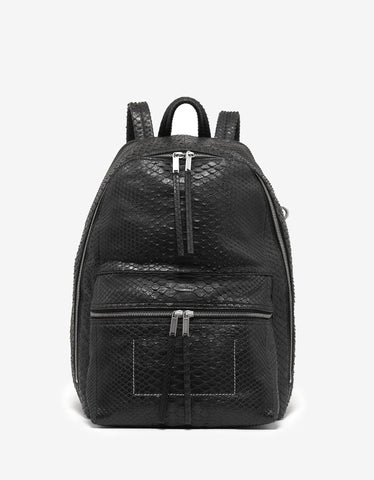 Rick Owens Black Python Leather Backpack
