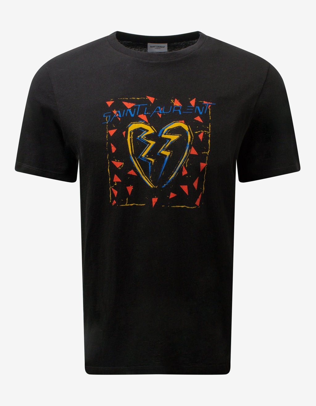 Black Broken Heart Print T-Shirt