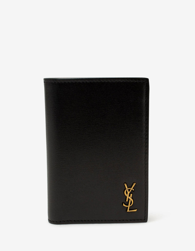 Black Monogram Card Wallet