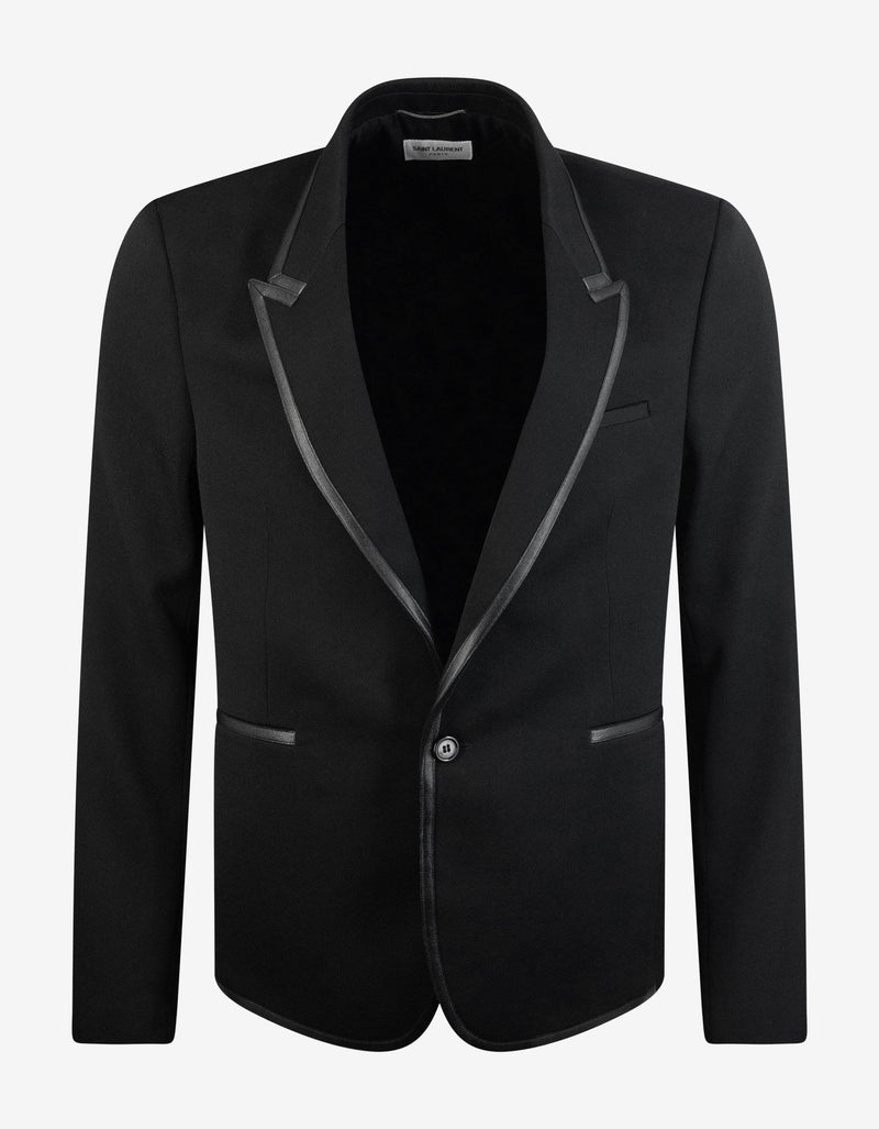 Black Tailored Wool Blazer -