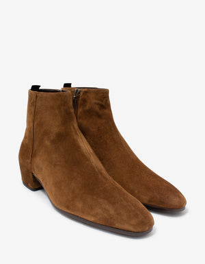 Caleb Brown Suede Leather Ankle Boots
