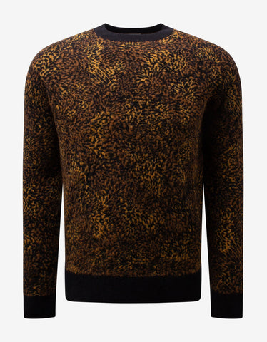 Leopard Print Wool-Blend Sweater