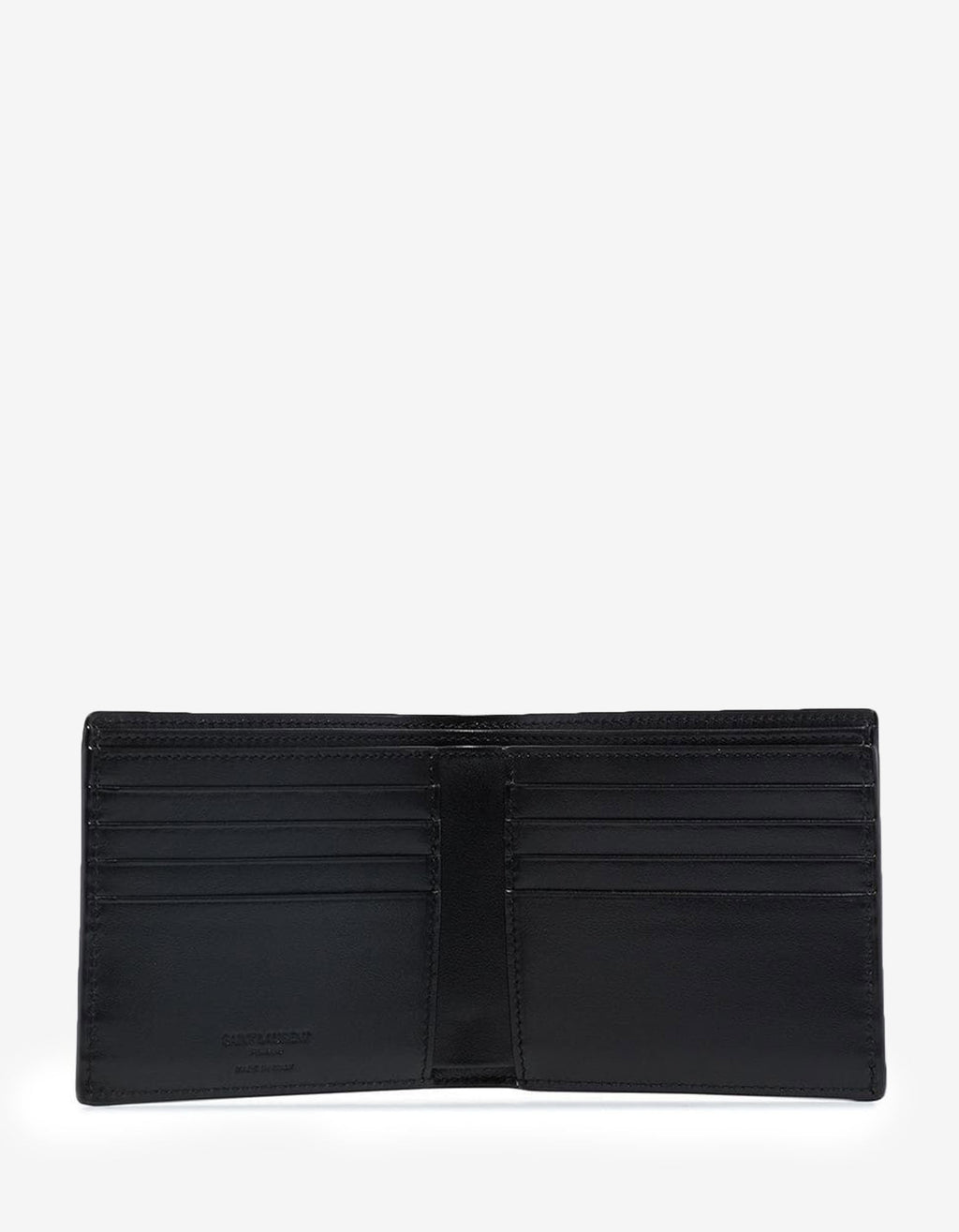 Tortoiseshell Print Patent Leather Billfold Wallet