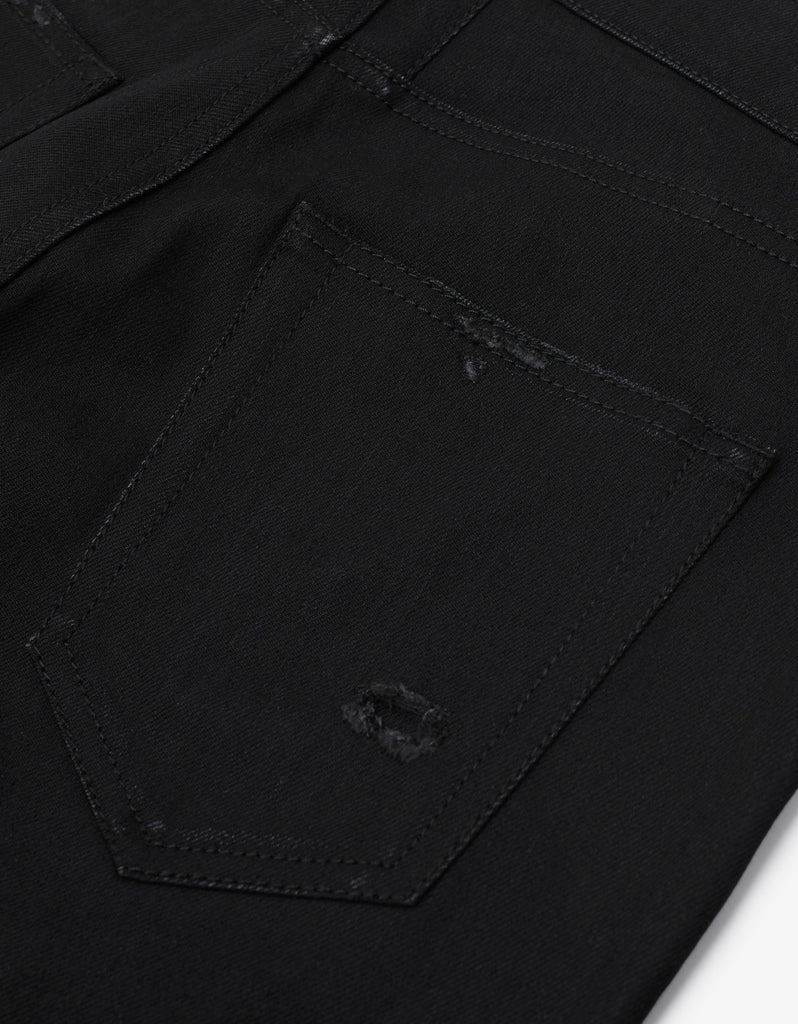 Black D02 Skinny Destroyed Denim Jeans
