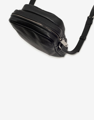 Black Leather Brad Pouch