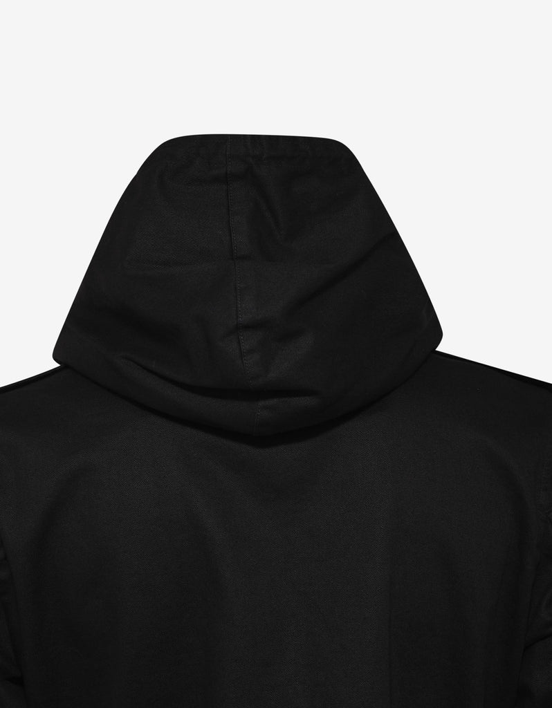 Black Logo Patch Parka