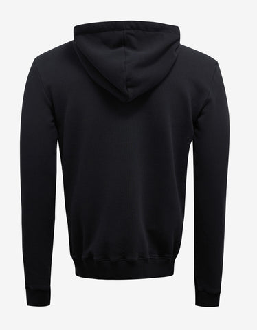 Saint Laurent Black Square Logo Print Hoodie
