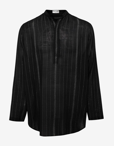 Saint Laurent Black Oversized Wool Tunic