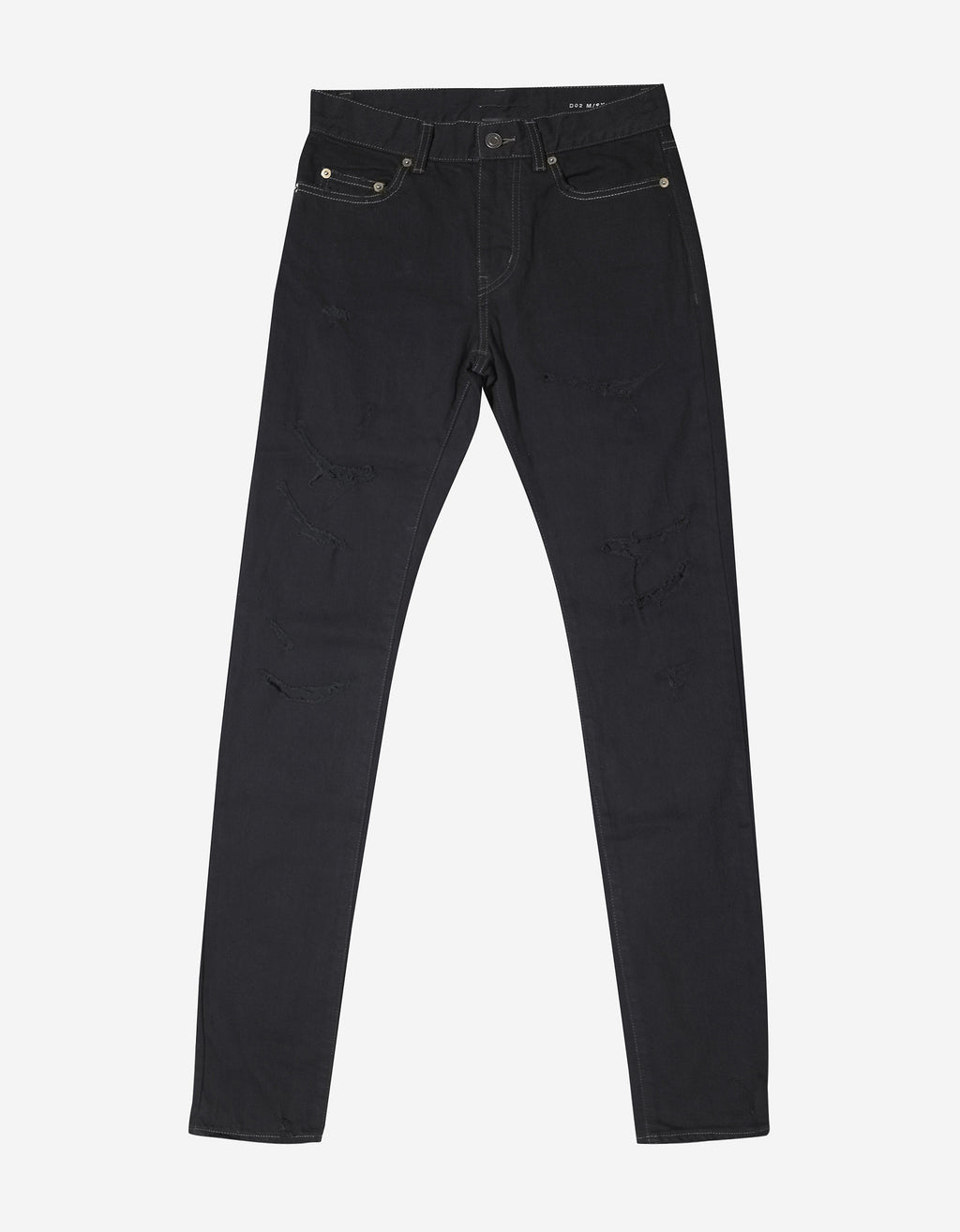 Black D02 Destroyed Denim Skinny Jeans