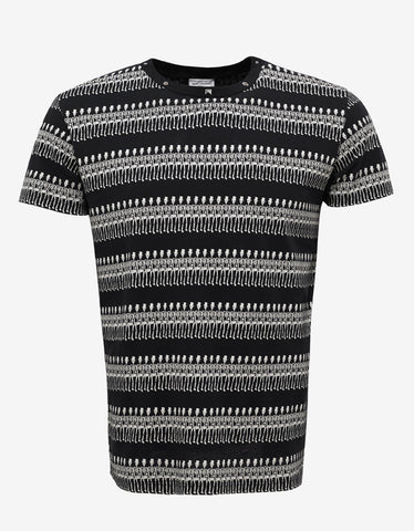 Saint Laurent Black Skeleton Print T-Shirt