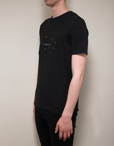 d5acb8f3730 ... Saint Laurent Black Square Logo & Stars Print T-Shirt