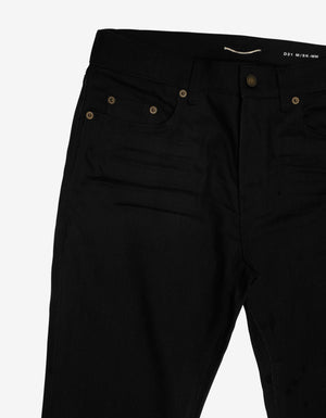 Black Stretch-Denim Skinny Jeans -