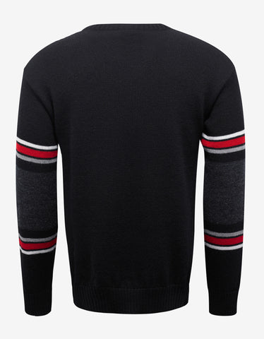Saint Laurent Black Dino Jacquard Wool Sweater