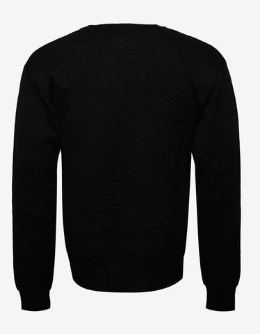 Saint Laurent Black Tiger Head Mohair Blend Sweater