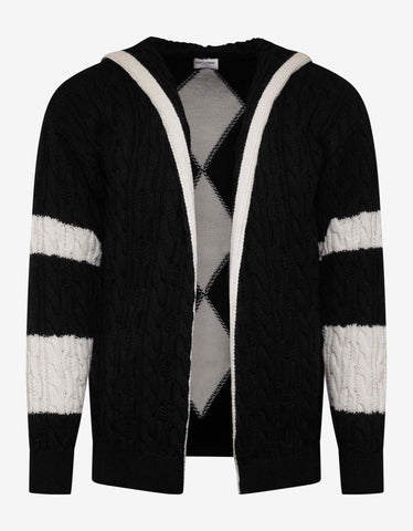 Saint Laurent Black & White Hooded Baja