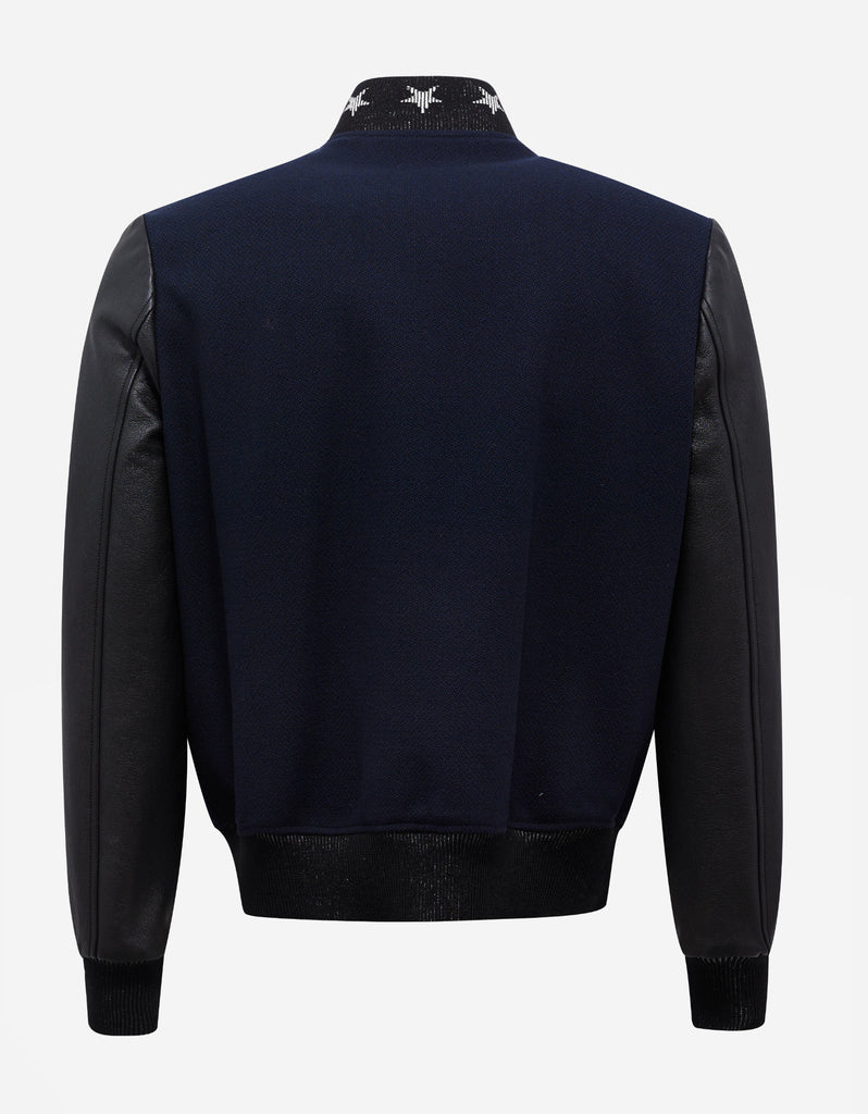 Navy Blue Teddy America Jacket